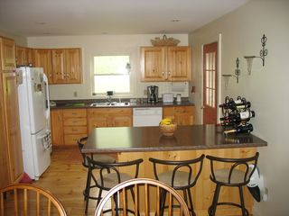 Bridgewater Corners farmhouse photo - Kitchen with breakfast bar