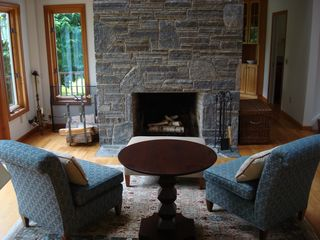 Sitting Room with fireplace - Mystic house vacation rental photo