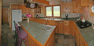 Fantastic kitchen with lots of counter space, eating bar and everything needed