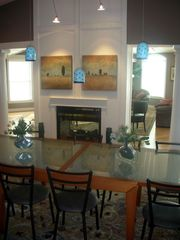 Bethany Beach house photo - Dining area and see through fireplace