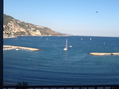 Menton apartment rental - Our beautiful view from the balcony.