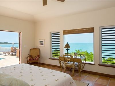The pool cottage. One of the spacious master suites with ocean view