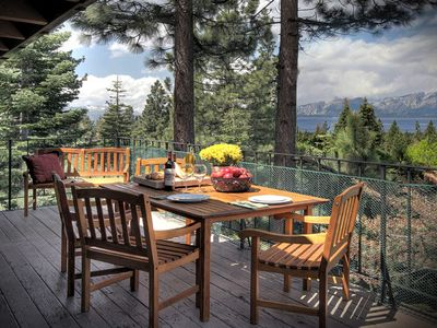 Heavenly Valley house rental - Huge Deck Overlooks Private Setting