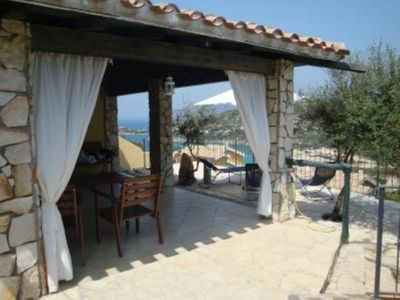 House with garden with beautiful view. 100mt to the beach!