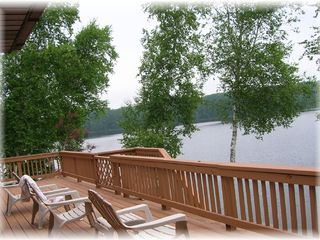 Leroy house photo - Huge deck overlooking lake
