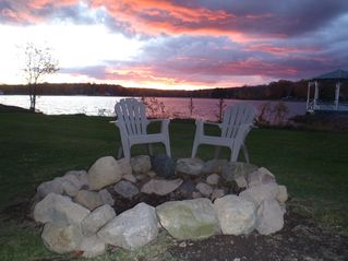 Penn Lake cottage photo - Incredible Sunsets - night after night
