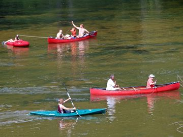 Family floating trips on New River just a few miles from cabin.