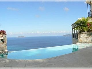 Peter Bay villa photo - Infinity-edge pool with in pool bench overlooking the Caribbean