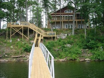 Lewis Smith Lake house rental - Year round deep water with a beautiful rocky shoreline