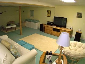 Lower level TV area, great for kids