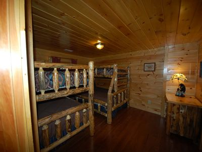 Bedroom with Bunk Beds and Attached Bathroom