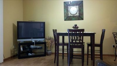 Dining area with 42 inch plasma tv