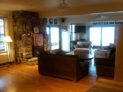 Plattsburgh cottage rental - Large open floor plan helps bring the wonderful views right into the property.