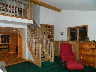 Carrabassett Valley house photo - Stairs leading up to the loft