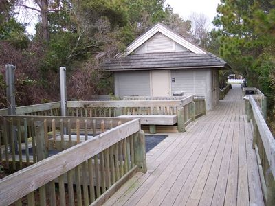 Folly Field villa rental - Beach area with bathroom and showers