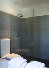 Bath room with rain shower - East Amsterdam apartment vacation rental photo