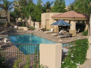 Scottsdale townhome photo - Beautiful pool and Hot tub, with two gas grills