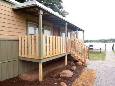 Monticello - Indiana Beach cottage rental - Exterior of the cottage - lake front!