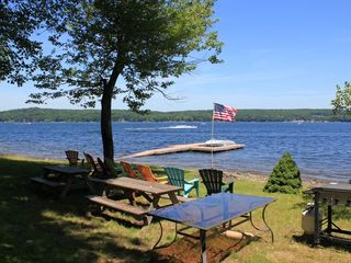 Lake Wallenpaupack lodge photo - Private Lakefront Dock