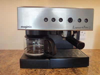 Espresso, of course. Top-of-line appliances.