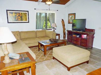 Large and Comfortable Living Room. This home was JUST remodeling and furnished!