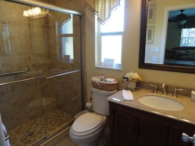 Siesta Key house rental - Beautiful downstairs Master Bathroom