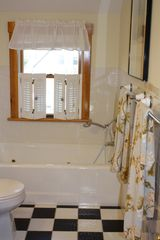 Oak Bluffs house photo - Second floor full bath; Jacuzzi tub (waterview) and separate shower