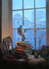 "Original Art ""Room with a View""by Alxei Buitirskiy - Sandpoint condo vacation rental photo"