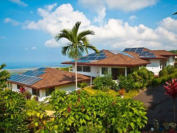 Holualoa cottage rental - Kope Cottage is a stand-alone dwelling South (left) and below the Vista Suite.