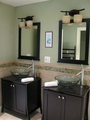 Magnificent Master Bath with glass sinks - Kiawah Island villa vacation rental photo