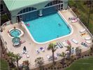 Aerial View of Incredible Indoor/Outdoor Pool - Celadon Beach Resort condo vacation rental photo
