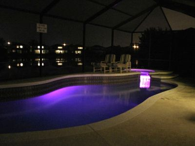 Sunset Lakes villa rental - Pool and Spa/Jacuzzi lights