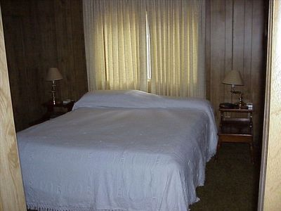 Hat Creek house rental - Master Bedroom suite. Large closet and dresser plus private bathroom and shower.