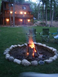 Indian River cabin rental - Bonfire Pit