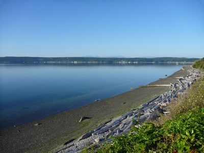 Oak Harbor house rental - Peaceful summer day looking west from private promontory.