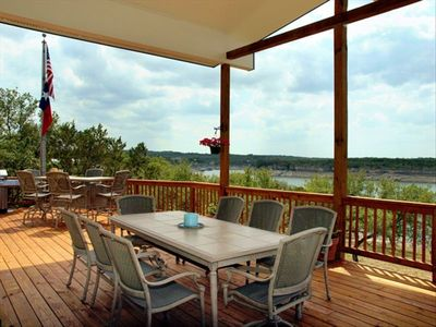 Large Covered Deck w. Sunset Views! Lots of Seating, Hammock, Gas Grill.