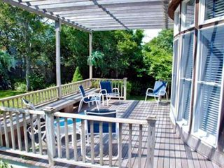 Edgartown house photo - Rear Decks Open Out From Living & Dining Rooms Nicely Expanding Outdoor Entertaining & Dining Areas