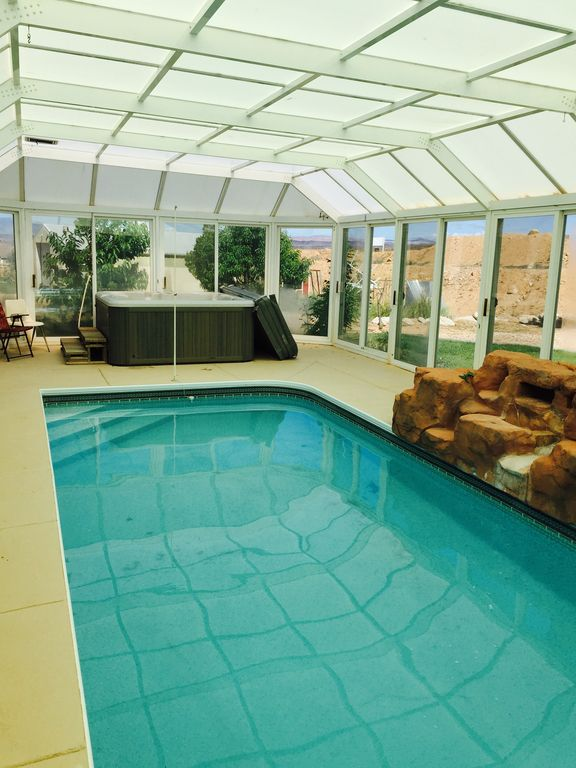 Greenhouse pool and spa give this vacation vrbo for Greenhouse over swimming pool