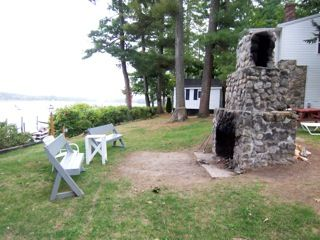 Sebago Lake Basin cottage photo - outdoor fire place
