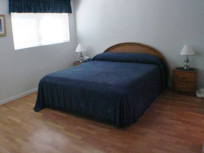 Downstairs Master Bedroom / King Size Bed with separate bath