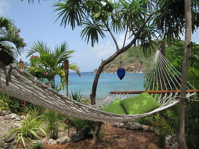 Chocolate Hole studio rental - take an oceanfront nap as the Caribbean sea gently lulls you to sleep