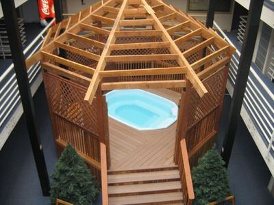 Hot Tub: Fits 8 people, in the Atrium common area.