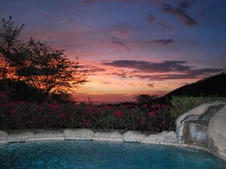 Playa Hermosa house photo - Beautiful sunset from our patio. Time to have a cerveza and relax...PURA VIDA!!
