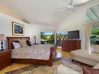 Poipu house photo - Spacious King master suite with 42' HDTV/ leather Sofa