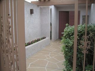 Indian Wells house photo - Courtyard entry to house.