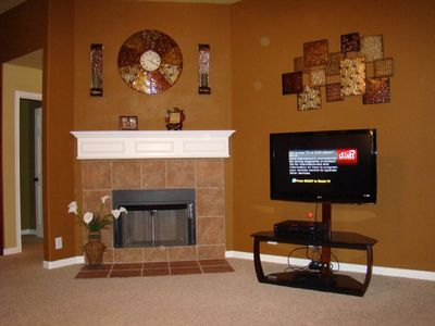 Living Room Area with a 42' HD Flatscreen TV