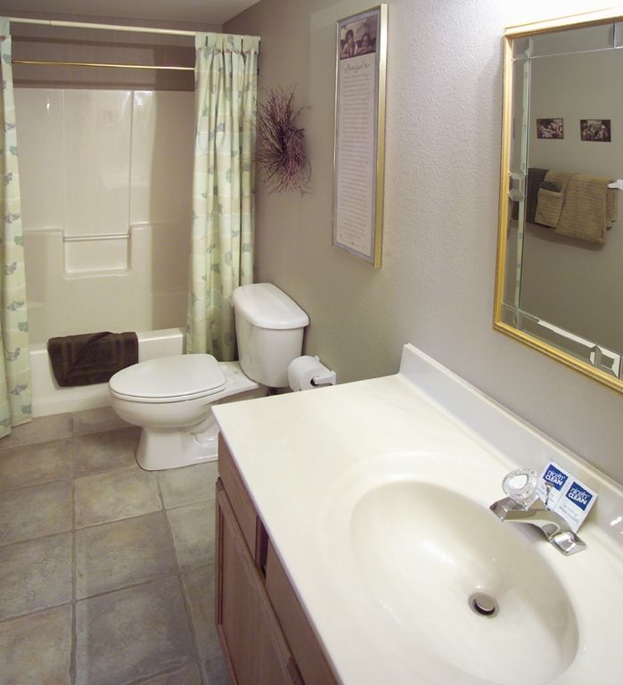 3rd & 4th bathrooms are also full size, with a tub and shower combination.