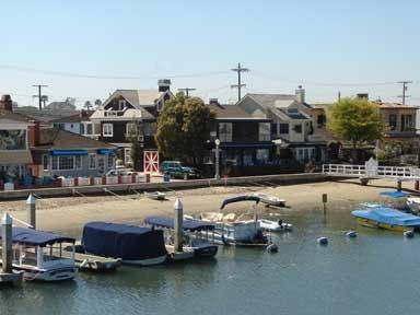 View from Balboa Island bridge