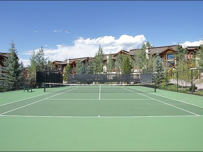 Summer-Use Tennis Courts Also On Site