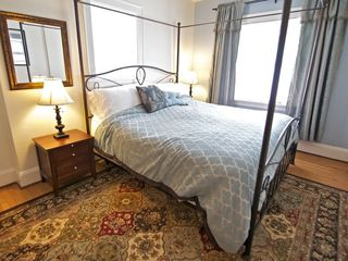 Portland apartment photo - Bedroom with king canopy bed